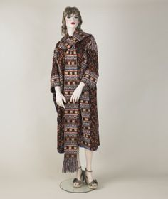 Coat dress and matching scarf, Bill Gibb, 1976-77