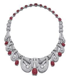 RUBY AND DIAMOND NECKLACE CIRCA 1935