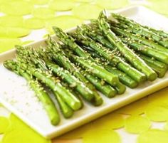 A nice, easy side dish to serve on hot summer nights.-Chilled Asian Asparagus Spears