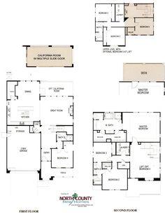 Voscana floor plan 3 new townhomes in carlsbad ca by shea homes new home floor plans in for Shea homes design center san diego