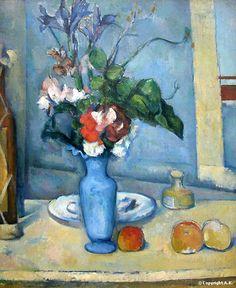 The blue vase circa 1889 Paul Cézanne