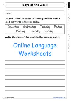 English Home Language Worksheet Grade R. For more visit www.e-classroom.co.za !
