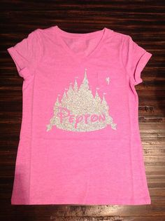 Sparkly Pink Disney World Castle Shirt by oohlalettersandmore, $22.00