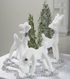 White Frosty Reindeer