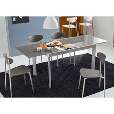 tavolo allungabile portland friulsedie, design geometrico perfetto ... - Tavolo Allungabile Rettangolare