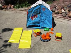 Barbie camping set