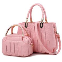 968cdc0408 Fashion Pu Leather Women s Tote Bags Set - Purple