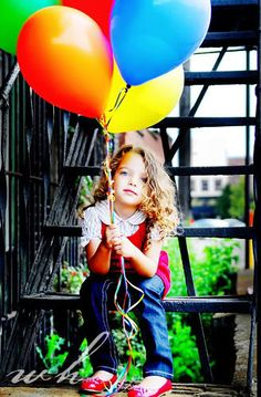 Girl with balloons, skye hardwick Beautiful Children, Beautiful Babies, Children Photography, Family Photography, Love Balloon, Colourful Balloons, Rainbow Balloons, Fru Fru, Kid Poses