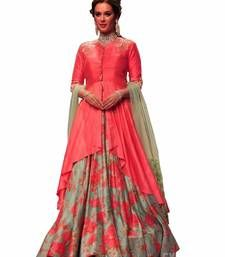 Bollywood Style Party Wear Silk Lehenga Suit with Dupatta to Ace Ethnic Look Lehenga Suit, Silk Lehenga, Anarkali, Lehenga Online, Ethnic Looks, Ethnic Wear Designer, Lehenga Designs, Bollywood Fashion, Bollywood Style