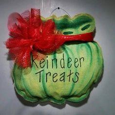Reindeer Treats Bag Burlee by LoversByGlover on Etsy, $25.99