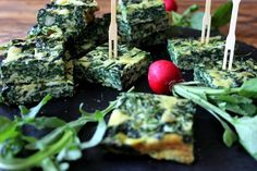 Rocket and spinach frittata