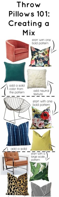 How To Create A Throw Pillow Mix - 3 levels with examples