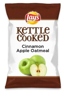 Wouldn't Cinnamon Apple Oatmeal be yummy as a chip? Lay's Do Us A Flavor is back, and the search is on for the yummiest chip idea. Create one using your favorite flavors from around the country and you could win $1 million! https://www.dousaflavor.com See Rules.