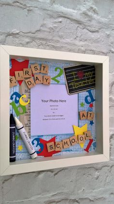 First Day at School Photo Frame by PontyCraftCreations on Etsy