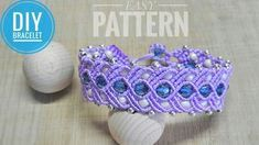 Macrame Bracelet Tutorial - Simple Macrame Pattern #MacrameBracelet #FreeTutorial #DIY #Tutorial #Pattern #MacramePattern #Craft #MacrameMagicKnots #Knots #PurpleBracelet #Beads #Braceletwhitbeads