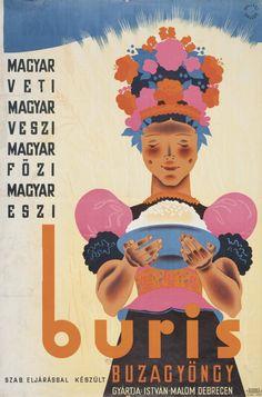 Dallos Hanna és Mallász Gitta munkamódszeréhez. A plakát szlogenje tükrözi a harmincas évek legvégének nacionalista közhangulatát. (OSZK, PKT. PKG.1939/334)