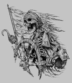Take The Wheel by obxrussell on DeviantArt Tattoo Pirate, Pirate Skull Tattoos, Pirate Ship Tattoos, Pirate Tattoo Sketch, Pirate Ship Tattoo Drawing, Pirate Compass Tattoo, Tattoo Sketches, Tattoo Drawings, Body Art Tattoos