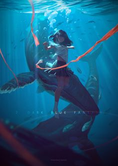Best Cost-Free ArtStation - 2 DARK BLUE FANTASY, Dyzi nlizi - stathis Karabateas - Style For your decision to an Aesthetic-Plastic Surgery or alleged cosmetic surgery, there are various, pe Art Anime Fille, Anime Art Girl, Manga Art, Anime Girls, Manga Anime, Pretty Art, Cute Art, Aesthetic Art, Aesthetic Anime