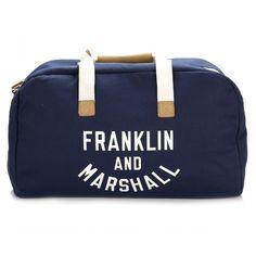 Franklin & Marshall Dark Blue Varsity Weekender Bag