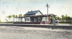 Center Moriches Station Before 1964 {It Was Torn Down In 1964} No Longer A Stop On The L.I.R.R. But The Cement Platform Is Still There & The Siding There Is Used For Work Trains.