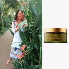 """Rebecca de Ravenel """"Being from the Bahamas, I have always scrubbed my skin with sand. This winter has actually been quite chilly in L.A. I've been mixing a handful of sand with Tata Harper's Smoothing Body Scrub and a sprinkle of Leonor Greyl's Huile de Magnolia. Healthy, glowing skin always brings me back to the islands."""""""