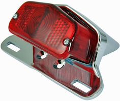 BikeIt Old English Design Motorcycle Stop and Tail Lamp with Hanger