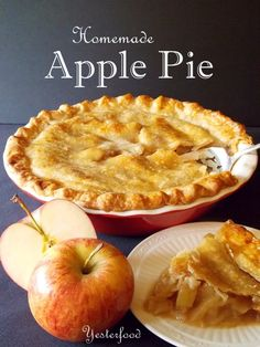 I found the method for preparing this pie in an old Gold Medal Flour cookbook of my Mom's. The ingredients go together a little differently, but you end up with a classic Apple Pie: sweet, juicy, tender apples wrapped up in a golden crust.
