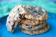 GF Cranberry Oatmeal Cookies. Subbed raisins and chocolate chips for craisins and used WildRoots GF pancake mix instead of white flour to make it GF. Omitted cloves.