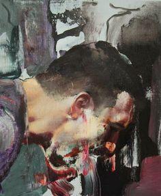 "Adrian Ghenie closeup of ""The Fake Rothko"""