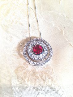Ruby 3-in-1 Circle Necklace Wear 3 Ways by NorthCoastCottage