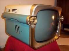 1957 Zenith Portable Television - It looks like the back of a car with brake lights. Just plain cool.