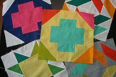 Summer Sampler Series blocks by freshlypieced, via Flickr