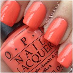 OPI Hot and Spicy 'Hot Cantelope'