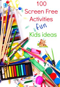 100 kids screen free kids activities perfect for the summer or screen free week.  Fun children's activities that are screen free