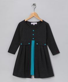 Teal Sarah Tunic - Toddler & Girls  #zulily #fall  my kid would totally wear this twice a week.