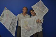 how to make an easy newspaper diamond kite | DIY Paper Kites by Li Sashay