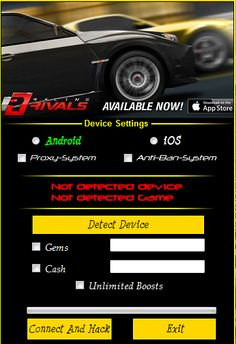 racing rivals hack cheats
