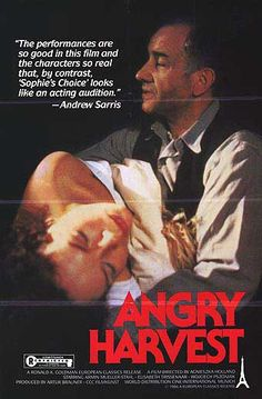 Psychological Drama Angry Harvest From Director Agnieszka Holland 1985 Original Movie Posters
