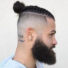 Long Top Shaved Sides Hair Man Bun click now for more info. Man Bun Undercut, Man Bun Haircut, Asian Men Hairstyle, Mens Braids Hairstyles, Fade Haircut, Hairstyles Haircuts, Haircuts For Men, Man Bun Styles, Hair And Beard Styles