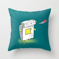CIGAMAN_SPACESHIP_B Throw Pillow by PINT GRAPHICS - $20.00
