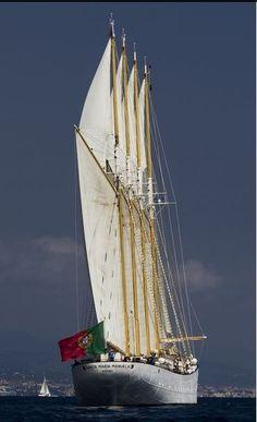 """Santa Maria Manuela"", Newfoundland Banks cod fisherman, Portuguese Tall Ship"