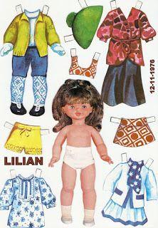 Coleção antiga Bonecas de Papel anos 60 e 70:      vintage paper dolls Brasilian    compartilhando com vocês leitores do blog e com quem ...