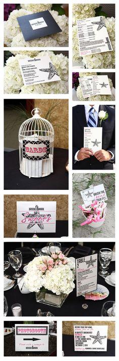 Modern Beach Themed Wedding Stationery #voilacustoms