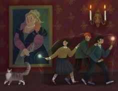 Illustration Artists, Illustrations, Harry Potter, Ravenclaw, Hogwarts, Book Art, Origami, Fantasy, Portrait