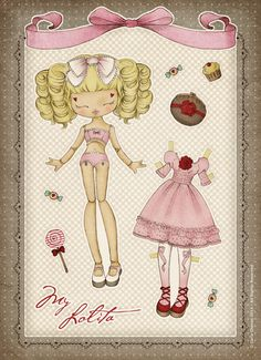 My Lolita - Paper Doll <3 by ♥ ribonita ♥ (catching up), via Flickr