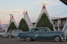 "Wigwam Village in Holbrook, Arizona on Route 66 (the inspiration behind the ""Cozy Cone Motel"").  Read more about this family Disney Cars inspired Route 66 road trip on www.fabeveryday.com."