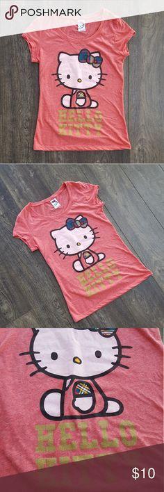 Sanrio Hello Kitty Pink  - Lg (juniors)/sm womens Cute retro Hello Kitty Tee!  NWOT - never worn. Sanrio Tops