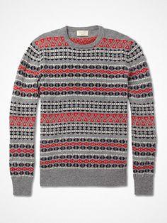 2012.08.18.    Maison Kitsuné's interpretation of the Fair Isle pattern. We love it. Available through Mr Porter    pick.basouk.com/RpNBDX