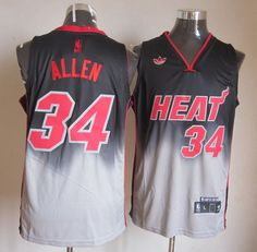 e2e6d28be24 Adidas NBA Miami Heat 34 Ray Allen Fadeaway Fashion Swingman Jersey