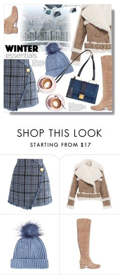 """""""Essentials"""" by queenvirgo ❤ liked on Polyvore featuring Chicwish, Burberry, Topshop, Sam Edelman and Martha Stewart"""